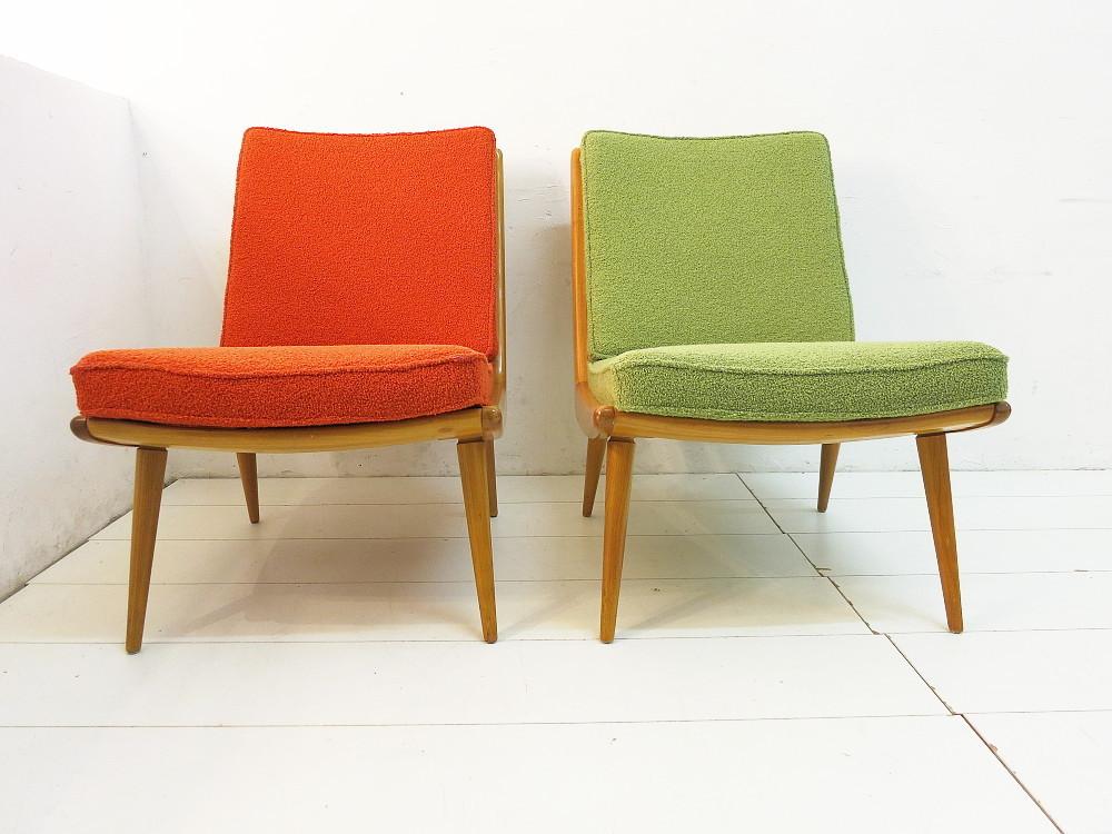 2 bumerang sessel von wk m bel 50er jahre plutoraker. Black Bedroom Furniture Sets. Home Design Ideas