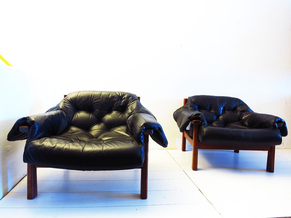 Pair of Brazilian Style Leather chairs