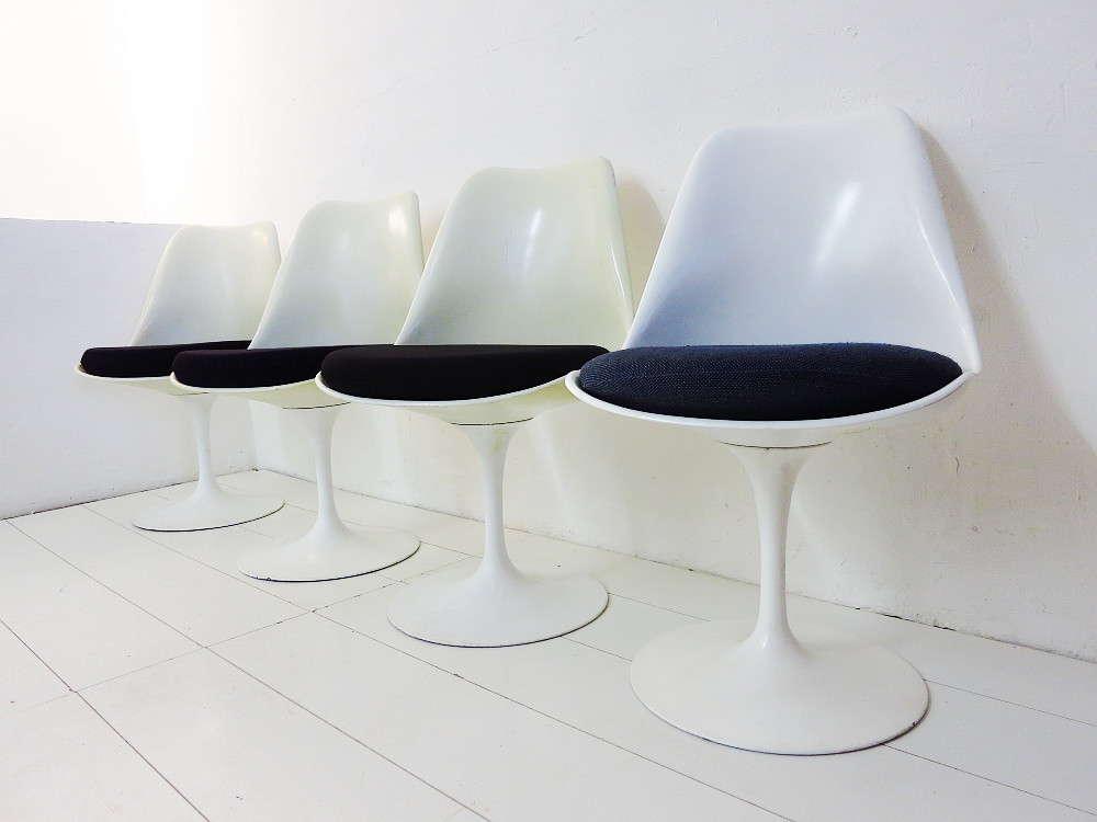 4 Tulip Chairs Design Eero Saarinen for Knoll International - plutoraker