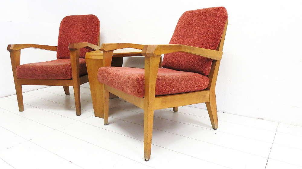 Anthroposophische Sitzgruppe 2 Sessel 1 Couchtisch 30er-50er Jahre ...