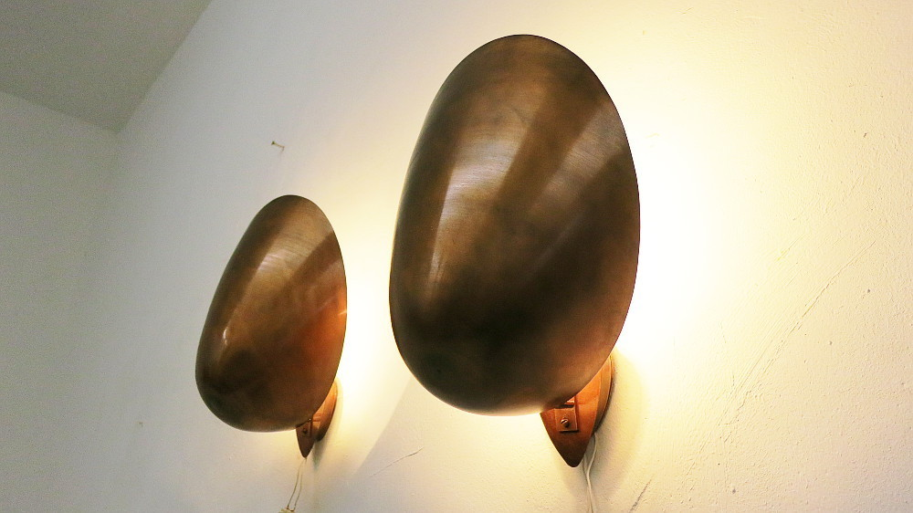 2 Mid Century Copper Wall Sconces