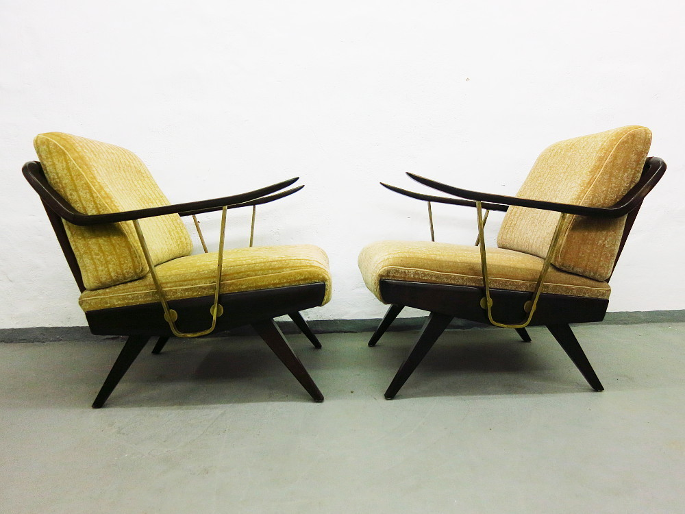 2 mid century sessel plutoraker. Black Bedroom Furniture Sets. Home Design Ideas