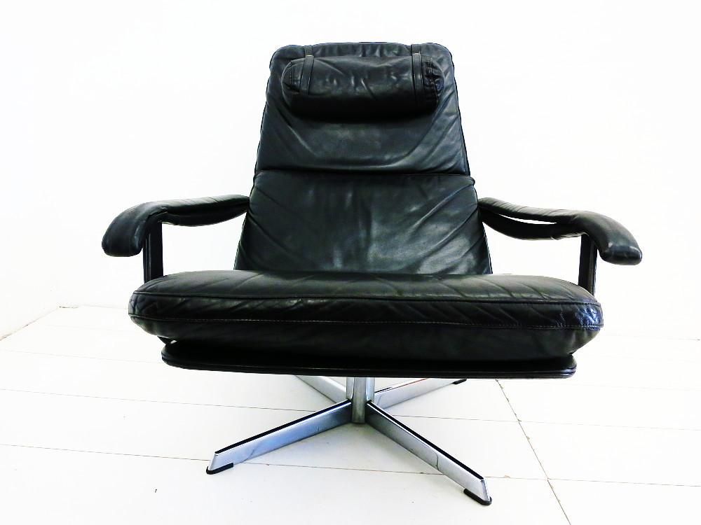 ... Sixties Leather Swivel Chair + Ottoman Chair ...