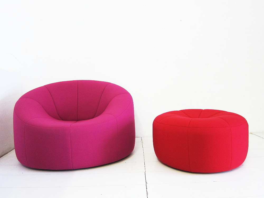 Pierre Paulin Pumpkin Sessel mit Hocker Ligne Roset
