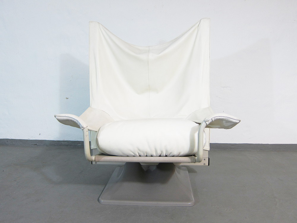 Cassina Aeo Leather Loung Chair Design Archizoom Paolo Deganello