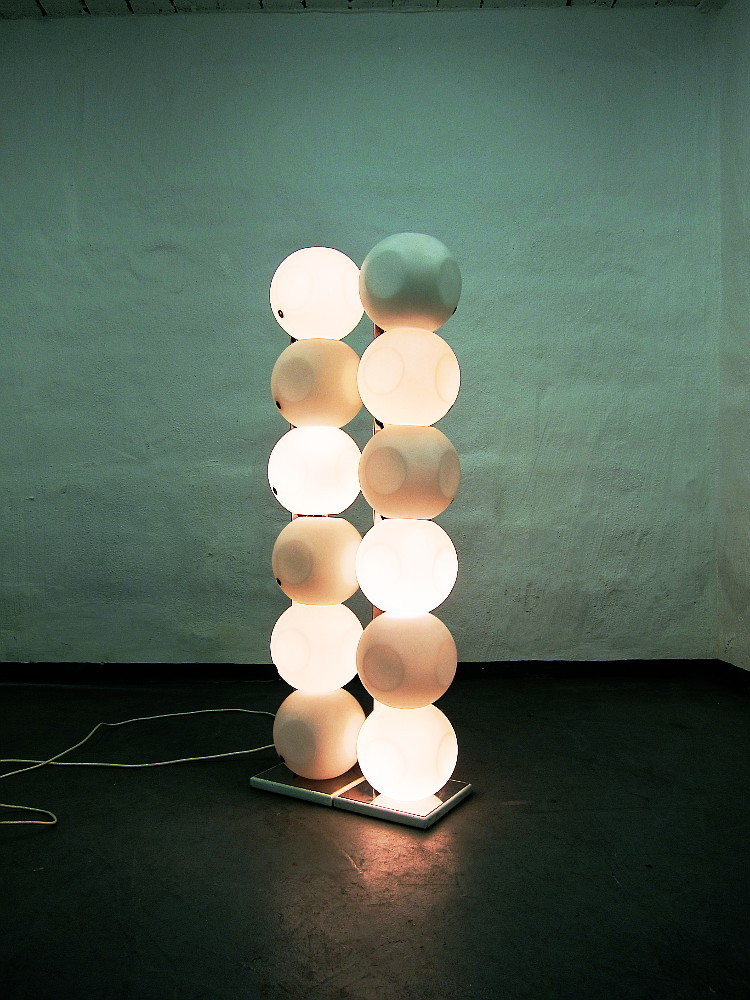 2 Bubble Floor Lamps From The Sixties By LUCI ILLUMINAZIONE DI INTERNI