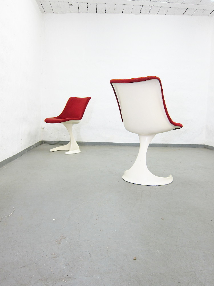 2 Plastic Soace Age Chairs By Felpam/Spain
