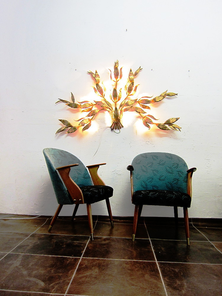 Giant Floral Wall Lamp By Kögl