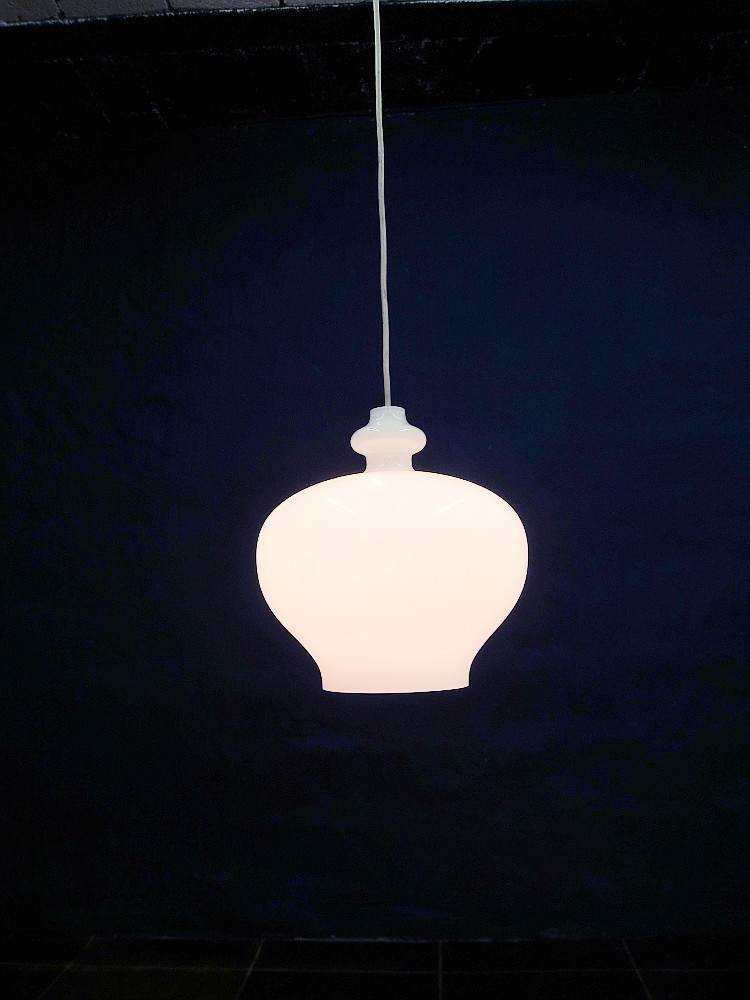 White Glass Lamp From Staff
