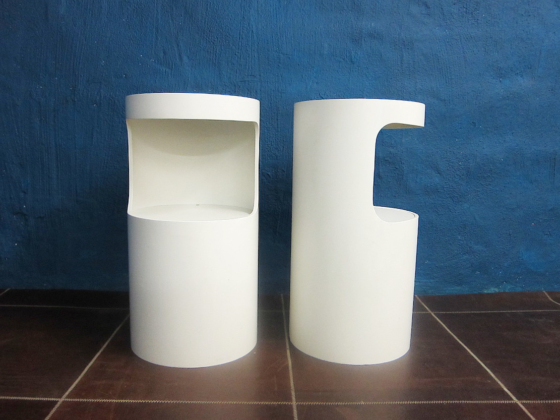 2 Cylinder Side Tables 60s 70s