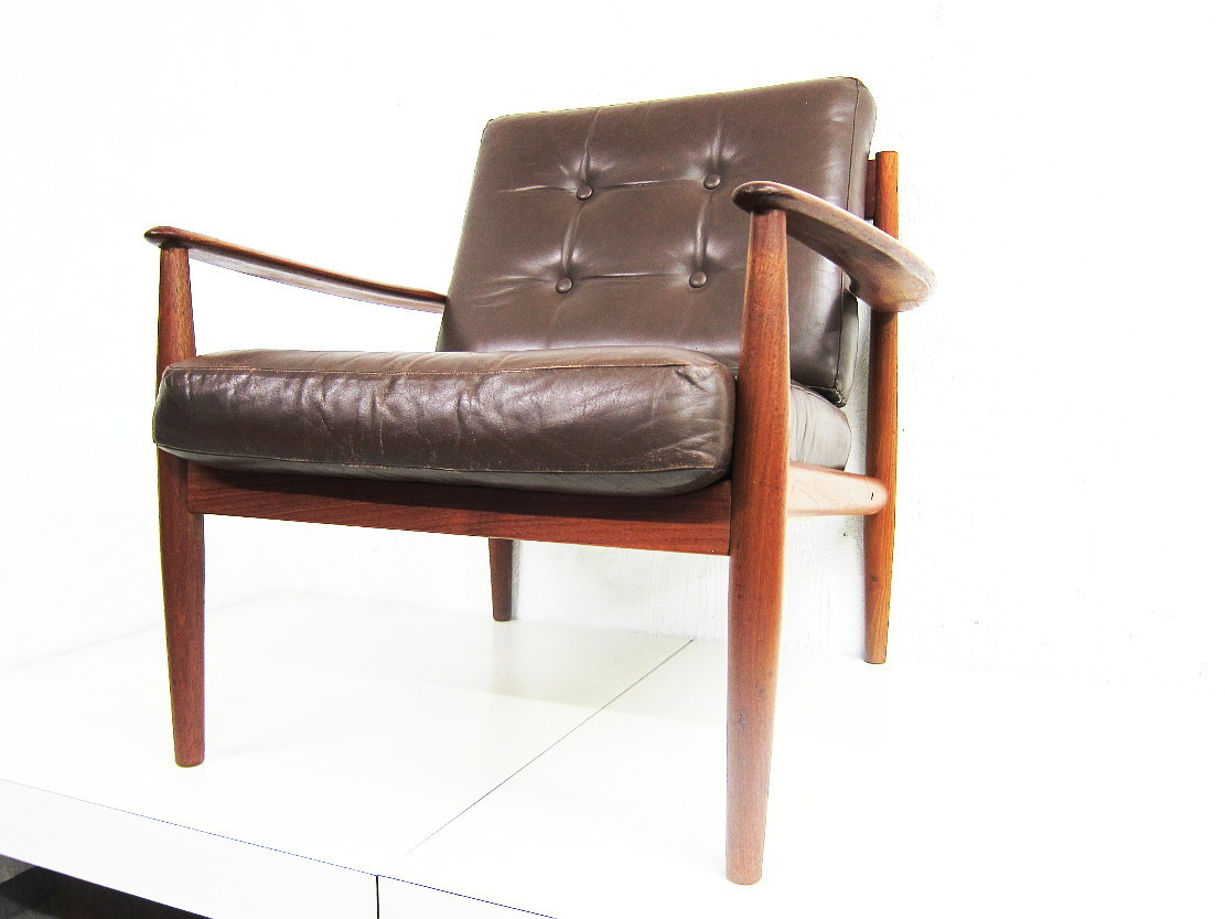 Grete Jalk Model 118 Teak Easy Chair by Fance & Son