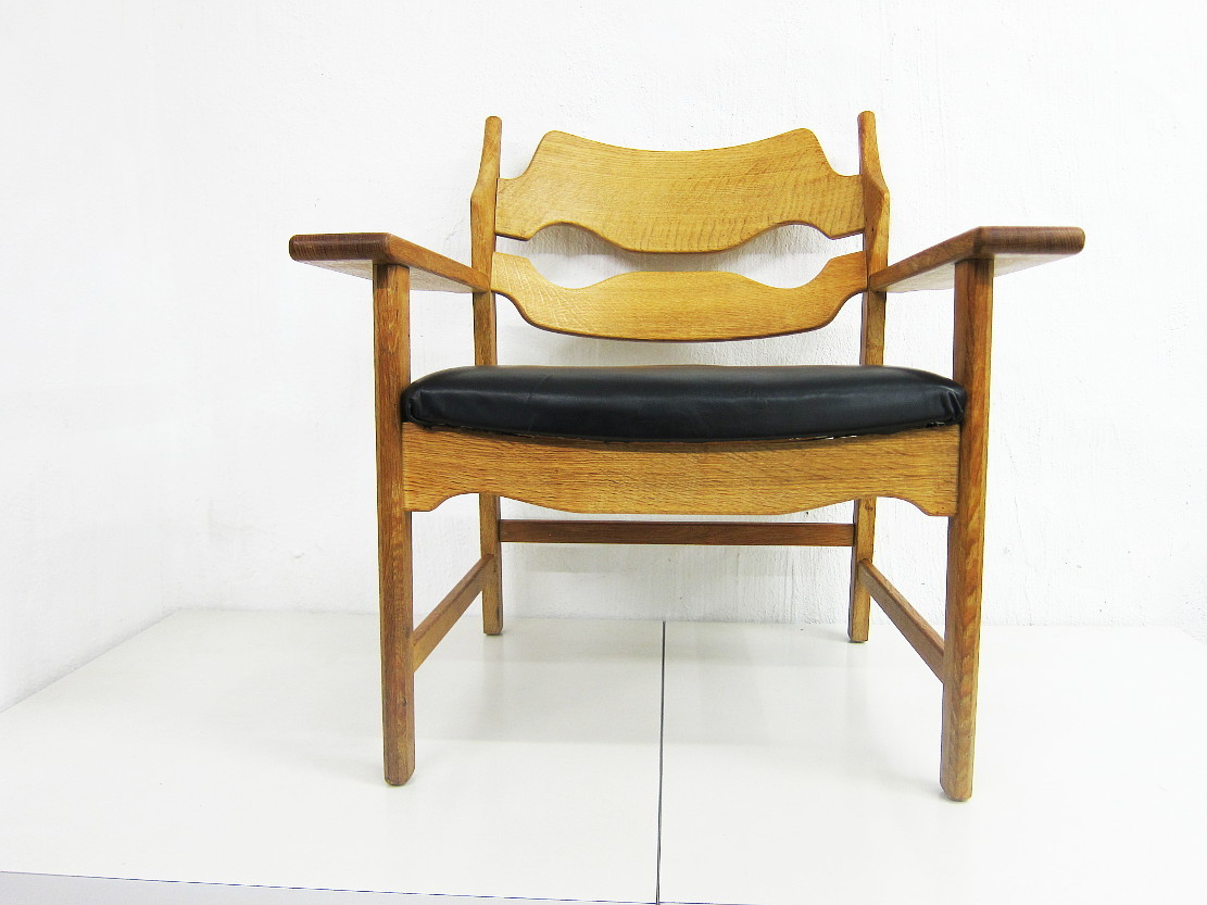 Danish Oak Chair Model Razor Blade Design Henning Kjaernulf